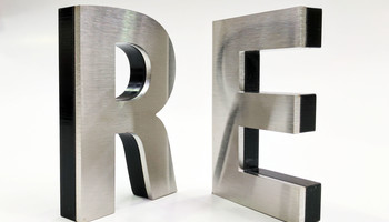 Stainless Black Acrylic 3D Letter