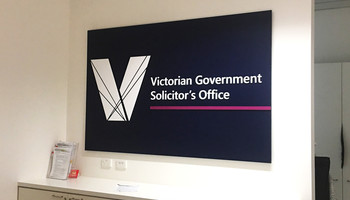 Victorian government signage