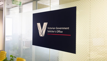 3D reception sign & window frosting