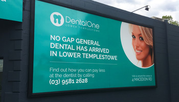 Outdoor Dental Sign