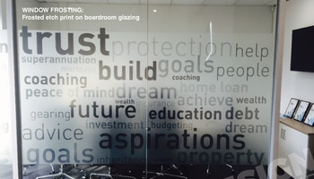 Frosting Printed Boardroom Example Finish