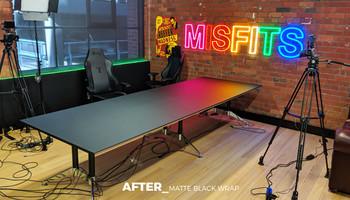 Matte Black Boardroom Table Wrap