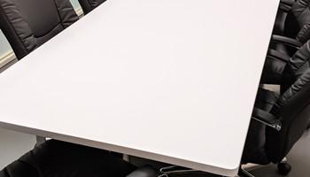 Boardroom Table Wrap Matte White