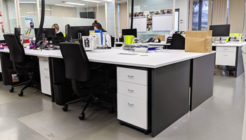 Desk Wrap Matte White Draws