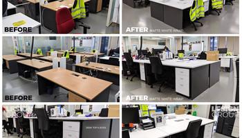 Desk Wraps Matte White