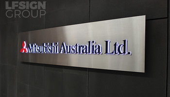 Stainless Steel Reception Signs