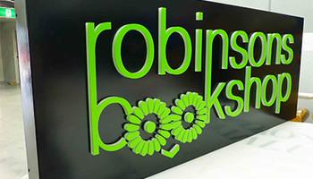 Robinson Bookshop Signage